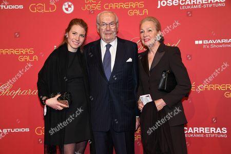 Karl Scheufele with wife Karin and Enkelin