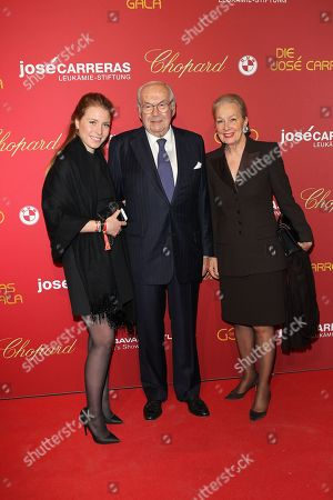 Karl Scheufele with wife Karin and Enkelkind