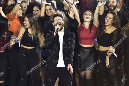 Stock Picture of The winner of X Factor 2017 Lorenzo Licitra
