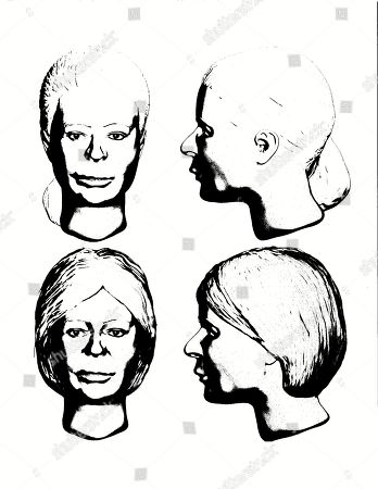 FILE - This file sketch drawn, by Delaware County Sheriff's Office criminal analyst Brook Segaard for the Marion County Sheriff's Office in Marion, Ohio, is meant to show a still-unidentified woman believed to be the first victim of an Ohio man linked to four killings. Investigators trying to identify the alleged first victim of Shawn Grate say they've received 10 to 15 tips in the month since Grate described killing a magazine seller in her mid-20s around 2005 in Marion County, Ohio, but authorities still don't know the name of the woman whose body was found in 2007