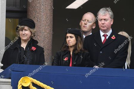 licia Collinson (left) and Foreign Secretary Boris Johnson, Marina Wheeler