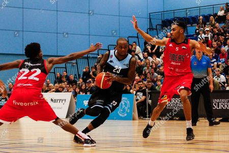 Editorial image of Surrey Scorchers v Leicester Riders, BBL Championship, Basketball, Surrey Sports Park, Guildford, UK - 22 Dec 2017
