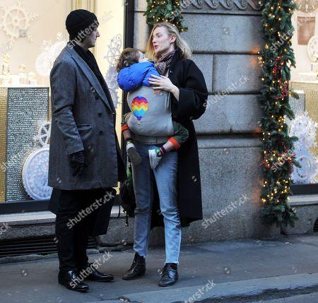 Stock Photo of Matteo Ceccarini and Eva Riccobono with son Leo