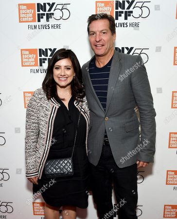 """Alex Saks, Andrew Duncan. June Pictures executives Alex Saks, left, and Andrew Duncan attend special screening of """"The Florida Project"""", during the 55th New York Film Festival, at Alice Tully Hall, in New York"""