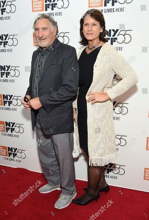 """Judd Hirsch and guest attend the premiere of """"The Meyerowitz Stories"""", during the 55th New York Film Festival, at Alice Tully Hall, in New York"""