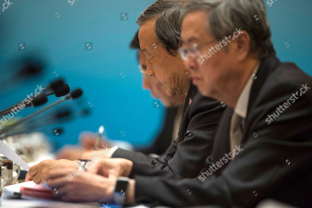 Stock Picture of Chinese Vice Premier Ma Kai attends the UK-China Economic Financial Dialogue at the Diaoyutai State Guesthouse in Beijing