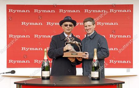 Presentation to Neil Mulholland for The Ryman Novices Chase won by KALONDRA Cheltenham