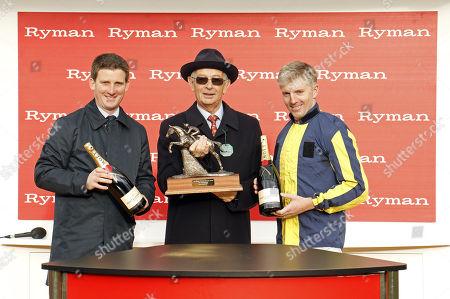 Presentation to Neil Mulholland and Noel Fehily for The Ryman Novices Chase won by KALONDRA Cheltenham