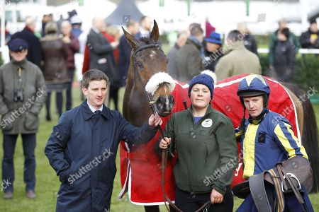 Neil Mulholland and Noel Fehily with Kalondra after victory at Cheltenham.