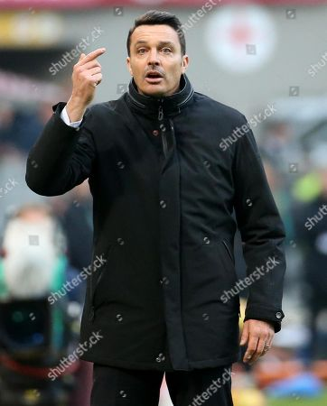 Udinese's head coach Massimo Oddo during the Italian Serie A soccer match between Fc Internazionale and Udinese Calcio at Giuseppe Meazza Stadium in Milan, Italy, 16 December 2017.