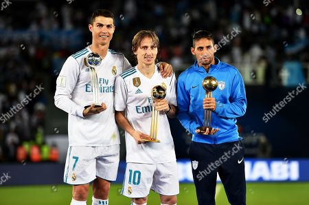 Cristiano Ronaldo, Luka Modric and Jonathan Urretaviscaya