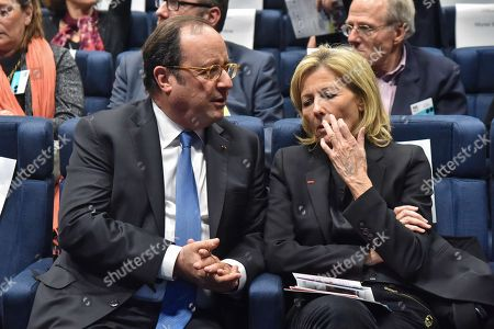 Francois Hollande and Claire Chazal