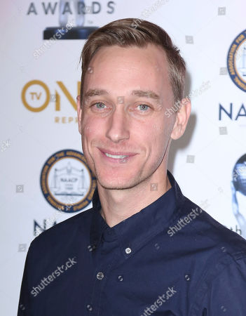 Stock Picture of Keegan Kuhn arrives at the 49th NAACP Image Awards Nominees' Luncheon at the Beverly Hilton Hotel, in Beverly Hills, Calif