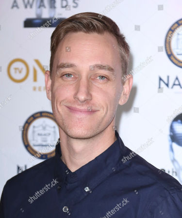 Stock Photo of Keegan Kuhn arrives at the 49th NAACP Image Awards Nominees' Luncheon at the Beverly Hilton Hotel, in Beverly Hills, Calif