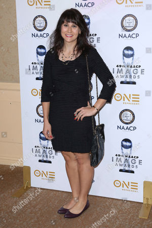 Vera Herbert arrives at the 49th NAACP Image Awards Nominees' Luncheon at the Beverly Hilton Hotel, in Beverly Hills, Calif