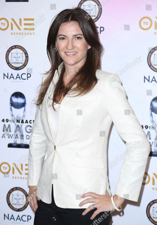 Tory Tunnell arrives at the 49th NAACP Image Awards Nominees' Luncheon at the Beverly Hilton Hotel, in Beverly Hills, Calif