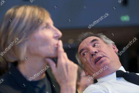 Marielle de Sarnez and Francois Bayrou
