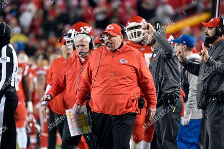f42bdf74c9c Kansas City Chiefs head coach Andy Reid yells from the sidelines during the  first half of