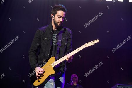 Jack Barakat of All Time Low performs at 93.3 FLZ's Jingle Ball at Amalie Arena, in Tampa, Fla
