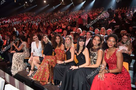Corinne Coman, Cindy Fabre, Delphine Wespiser, Alexandra Rosenfeld, Flora Coquerel, Laury Thilleman and Marine Lorphelin