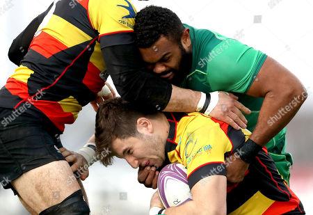 Connacht Eagles vs Richmond. Connacht's Naulia Dawai and Cameron Hudson of Richmond