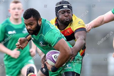 Connacht Eagles vs Richmond. Connacht's Naulia Dawai and Myles Scott of Richmond