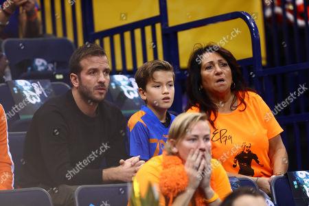 Rafael van der Vaart mit Sohn Damian and Mutter Lolita van der Vaart