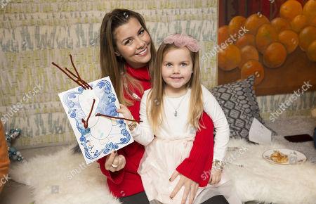 Imogen Thomas and daughter Ariana Siena Horsley