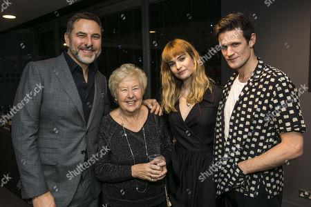 David Walliams, Kathleen Williams, Lily James and Matt Smith