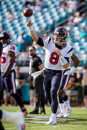 Houston Texans quarterback Taylor Heinicke (8) warms up before the start of  an NFL ... 3a772dcb7