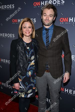 Claire Coffee (L) and Chris Thile