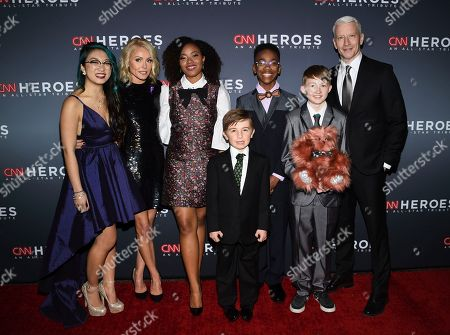 Christina Li, Kelly Ripa, Haile Thomas, Ryan Hickman, Sidney Keys III, Campbell Remess, Anderson Cooper. Christina Li, left, Kelly Ripa, Haile Thomas, Ryan Hickman, Sidney Keys III, Campbell Remess and Anderson Cooper pose together at the 11th annual CNN Heroes: An All-Star Tribute at the American Museum of Natural History, in New York