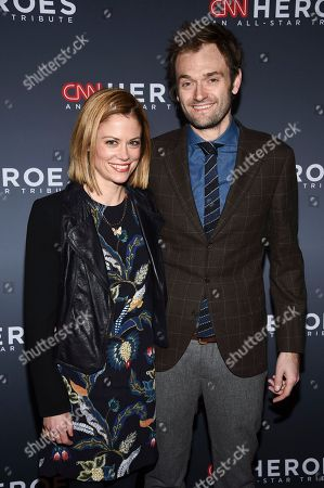 Claire Coffee, Chris Thile. Claire Coffee, left, and Chris Thile attend the 11th annual CNN Heroes: An All-Star Tribute at the American Museum of Natural History, in New York