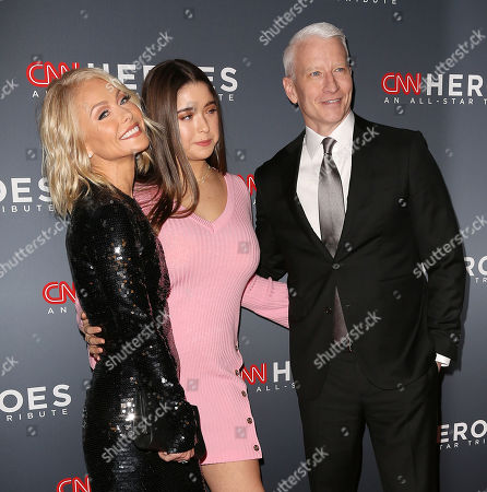 Kelly Ripa, Lola Consuelos and Anderson Cooper