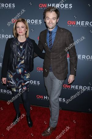 Stock Image of Claire Coffee (L) and Chris Thile