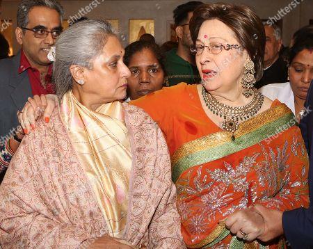 Jaya Bachchan and author Ritu Nanda