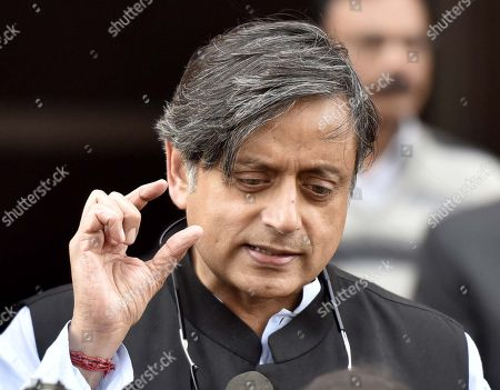 Member of Parliament, Lok Sabha from Thiruvananthapuram, Kerala Shashi Tharoor after attending the First day of the Parliament Winter Session at Parliament House