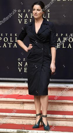Italian actress/cast member Luisa Ranieri poses for photographs during the photo call for the movie 'Napoli velata', in Rome, Italy, 18 December 2017. The movie will be released in Italian theaters on 28 December.