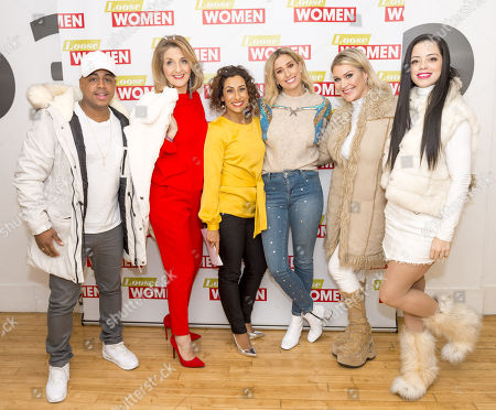 Bradley McIntosh, Jo O'Meara and Tina Barrett with Stacey Solomon, Kaye Adams and Saira Khan