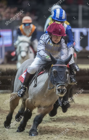 Stock Picture of Rocco Dettori taking part in the International Horse show