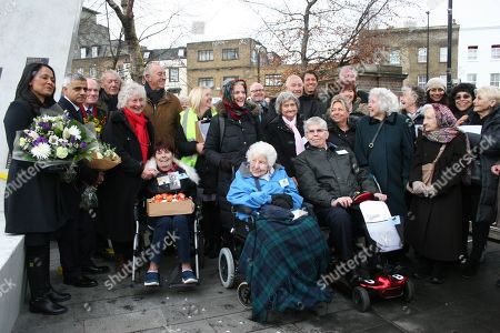 Editorial photo of Unveiling ceremony of memorial to Bethnal Green tube shelter disaster, London, UK - 17 Dec 2017