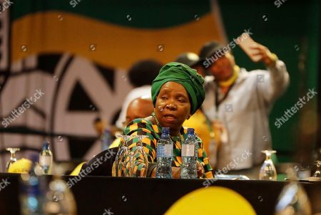 Nkosazana Dlamini-Zuma, former wife of President Jacob Zuma, reacts after losing out to the newly elected African National Congress (ANC) President, Cyril Ramaphosa, at the ANC's elective conference in Johannesburg, . Outgoing President Jacob Zuma's second and final term as party leader has ended after a scandal-ridden tenure that has seen a plummet in the popularity of Nelson Mandela's liberation movement