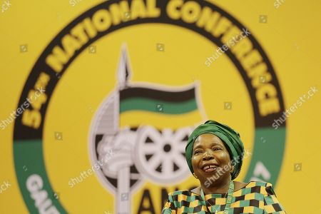 ANC Presidential hopeful Nkosazana Dlamini-Zuma sings as she awaits the results of the presidential race during the 54th ANC National Conference held at the NASREC Convention Centre, Johannesburg , South Africa, 18 December 2017. President Cyril Ramaphosa succeeded outgoing ANC President, Jacob Zuma and becomes the 4th ANC President since the end of Apartheid. The ruling ANC has been reeling recently under allegations of corruption and and loss of support from its core voters. The ANC (African National Congress) formally led by Nelson Mandela, led the country to freedom from white rule and the Apartheid system during the first free and fair elections in 1994. The convention ends Wednesday.