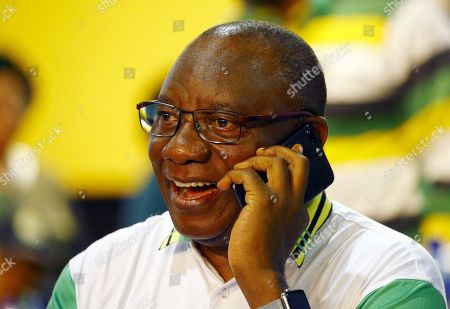 New ANC President Cyril Ramaphosa  during the 54th ANC National Conference held at the NASREC Convention Centre, Johannesburg , South Africa, 18 December 2017. President Cyril Ramaphosa Nkosazana Dlamini-Zuma succeeds outgoing ANC President, Jacob Zuma and becomes the 4th ANC President since the end of Apartheid. The ruling ANC has been reeling recently under allegations of corruption and and loss of support from its core voters. The ANC (African National Congress) formally led by Nelson Mandela, led the country to freedom from white rule and the Apartheid system during the first free and fair elections in 1994. The convention ends Wednesday.