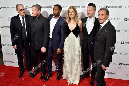 John Lesher, Christian Bale, Jonathan Majors, Rosamund Pike, Scott Cooper, Wes Studi