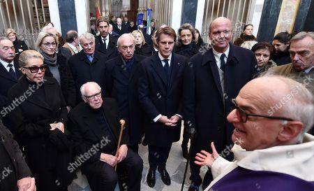 Vittorio Emanuele of Savoy, Marina Doria and Emanuele Filiberto of Savoy