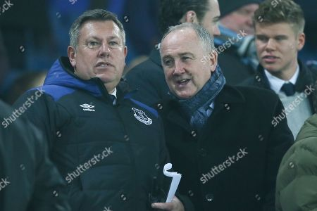 Craig Shakespeare and Steve Walsh in the stands