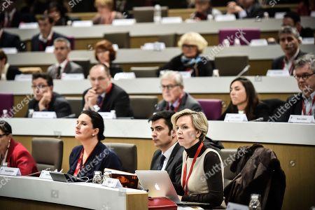 Regional concelor Virginie Calmels during the Nouvelle Aquitaine council in Bordeaux.