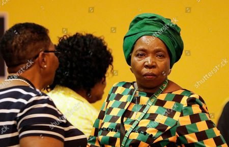 Stock Image of Nkosazana Dlamini-Zuma, former wife of President Jacob Zuma, looks on after losing out to the newly elected African National Congress (ANC) President, Cyril Ramaphosa, at the ANC's elective conference in Johannesburg, . Outgoing President Jacob Zuma's second and final term as party leader has ended after a scandal-ridden tenure that has seen a plummet in the popularity of Nelson Mandela's liberation movement