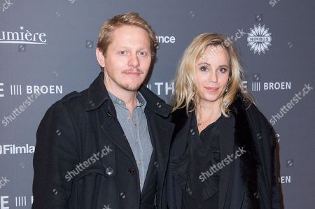 Stock Picture of Thure Lindhardt and Sofia Helin